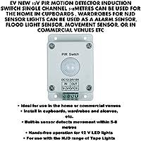 EV notebookbits 12 V inducción interruptor DETECTOR de movimiento PIR solo canal 5-8METRES CAN BE usado para el hogar en armarios, armarios para NJD SENSOR ...