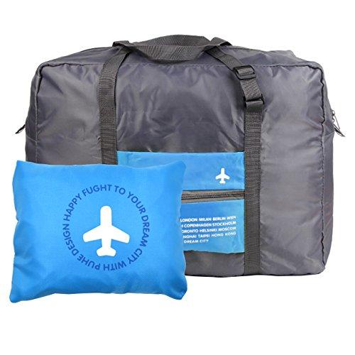 Milya Boardingtasche Reisetasche Handtasche Schultertasche/Umhängetasche die wasserfeste Nylontasche Kleidung Aufbewahrungstasche für Reise beweglicher Beutel Blau