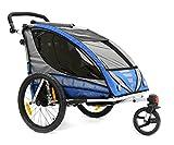 Qeridoo Kinderfahrradanhänger Sportrex2, Blau, Q6000A