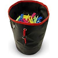 CampTeck U6837 Large Bolsa Para Pinzas de la ropa, de Colgar, Duradera Resistente al Agua - Negro