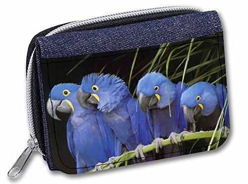 Advanta Geldbörse Denim Hyazinthe Macaw Papageien Mädchen Damen Geldbörse Geldbörse 13cm Denim Blue AB-PA1JW -