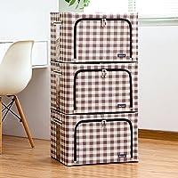Aggiornamento Storage Box Oxford Cloth Storage Box Abbigliamento trapunta finitura box di grandi dimensioni 66 litri 3 Equipaggiata Storage Box ( colore : 7 )