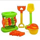 Queta Kids Play clessidra sabbia spiaggia giocattoli Seaside Water Toy House clessidra Funny strumenti per estate nuoto giocattoli, pezzi/confezione