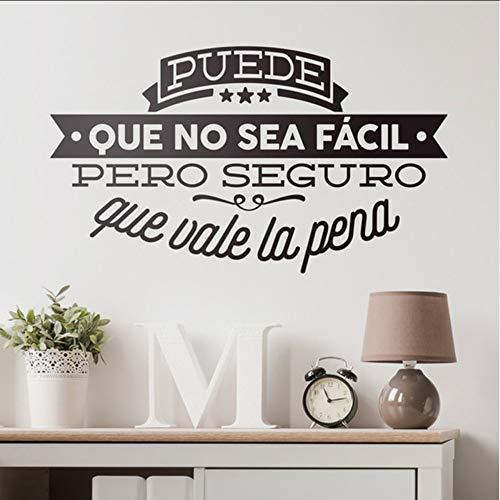 Ponana Spanisch Deko ZitateInspiration Schriftzug Wand Vinyl Aufkleber Für Schlafzimmer Büro Diy Wandbilder 57X33 Cm