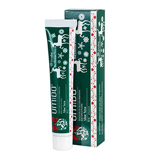 UMIDO Hand-Lotion Aloe-Vera Weihnachten, Handcreme bei trockener Haut, Feuchtigkeitspflege ohne zu fetten, Lotion sofort einziehend, Pflege-Creme für zarte Hände, für eine tägliche Hautpflege, 1 x 45 ml