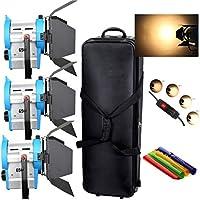 HWAMART® 3 x 650W Fresnel tungsteno DIMME contenitore di rotella di volo Spotlight Lighting