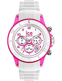 Ice-Watch - ICE Chrono party Cosmopolitan - Weiße Damenuhr mit Silikonarmband - 013723 (Medium)