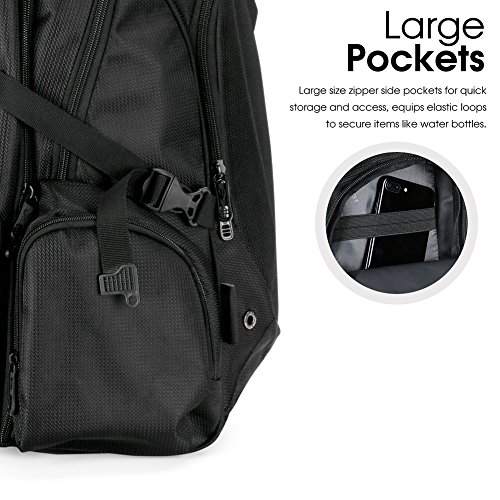 Victoriatourist V6002 Laptop Backpack with Tablet / iPad Sleeve, Fits Most 16″ Laptops, Black