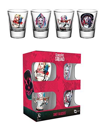 GB Eye LTD, Suicide Squad, Harley Quinn Mix, Pack de Vasos de chupito