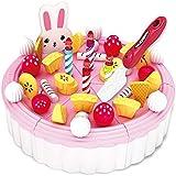 YEWJ Juguetes de la torta de cumpleaños de los niños, juego de la cocina de la simulación fijado, juguetes educativos de los niños juguete ( Color : Pink )