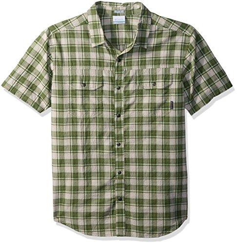 Columbia Men's Leadville Ridge Yarn Dye Short Sleeve Shirt, Spring Small Plaid, Large - Dye Plaid Shirt