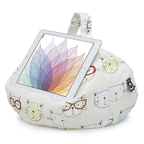 iBeani-Knautschkissen für iPads, Tablets & eReader / Halter für alle Geräte - Coole Katzen -