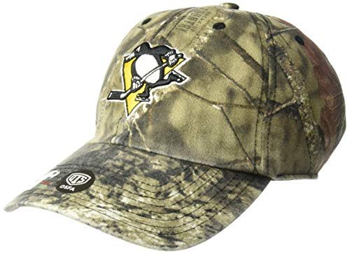 NHL Pittsburgh Penguins Male Mossy Oak OTS Challenger Adjustable Hat, Mossy Oak-Blades, One Size - World Baseball Fitted Hat Cap