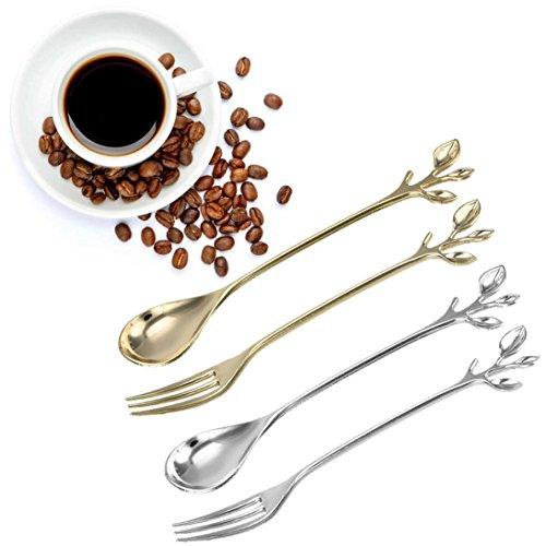 LtrottedJ Dreidimensionaler Kaffeelöffel, Obstgabel, Besteck, Küchengeschirr D (Kinder-kunst-tisch Mit Ablage)