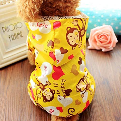 L Pet supplies Hündchen Regenmantel Haustierkleidung Teddy Kleidung mittlerer Hund Vier Fuß Regenschirm Kleiner Hund wasserdicht Hund Poncho @ Yellow Monkey Raincoat_16#