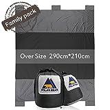 PolarBear Picknickdecke Campingdecke Strandmatte 290cm X 210cm Sand Resistant Reiseunterlage Grey
