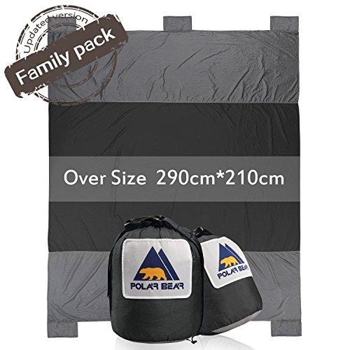 PolarBear serviette de plage tapisserie couverture de plage tapis de camping pique-nique pliable portable