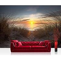 Fotomural, 400 x 280 cm Premium Plus fotográfico pintado – cuadro de pared – North