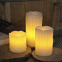 Bellissime candele a batteria realizzate in vera cera che accese imitano perfettamente l'effetto tremolante di una fiamma come una candela vera. Un modo del tutto nuovo per donare comunque al vostro ambiente un atmosfera calda e accogliente m...