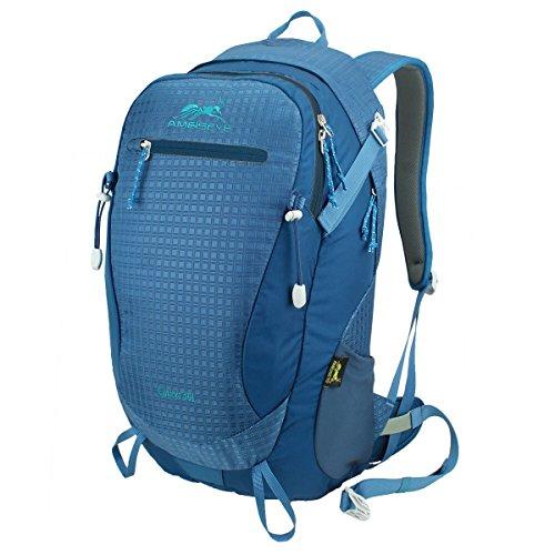Eshow Unisex Erwachsene Nylon Wasserdicht Trekkingrucksack Wanderrucksack Camping Rucksack Outdoor 30L Blau01