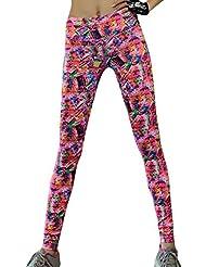 Mujer de deporte ajustado Caño Impreso Pantalones Yoga Stretch Leggings Running Gimnasio Fitness pantalones