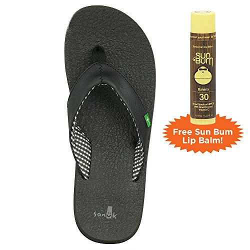 Sanuk Yoga Mat Plus Free Sun Bum Lip Balm Ebène