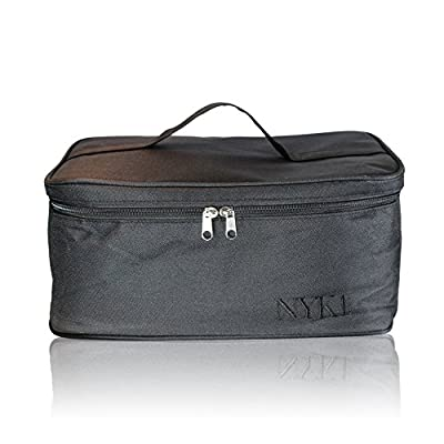 *NEW* NYK1 PINK or BLACK Gel Nail Case Bag for Nail Technician or Therapist Vanity Case - Professional Beautician Storage Carry Case for Nail Lamp, Gel Nails and Cosmetics