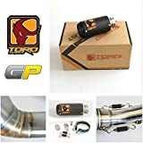 Toro T1 GP Kit de escape de motocicleta Matt Carbon - KTM Duke 125/200/390 2011-2016