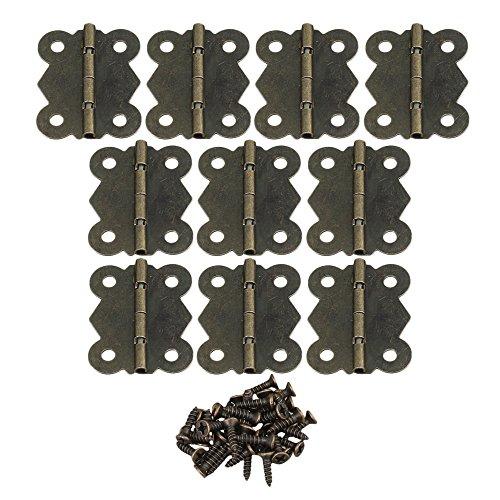 Yibuy 100Fall Box Tür Schrank Scharnier Vintage Schmetterling 4cm -
