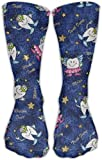 KsimYa Chaussettes de Sport Long Wing Teeth Unisex Printing 30CM Leisure Comfortable Sports Socks