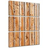 """Bilderdepot24 Cuadros en Lienzo """"Tablones de madera"""" 60x90 cm 3tlg - listo tensa, directamente desde el fabricante"""