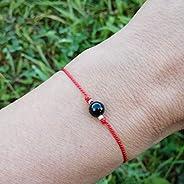 Pulsera hilo rojo turmalina negra, piedra natural 100% con energía protectora de uso personal