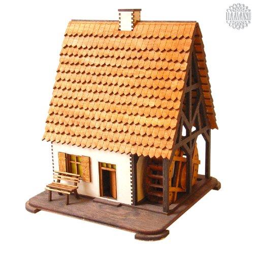 DAMASU BS_RH05, Bausatz-Räucherfiguren, Wassermühle