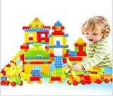 #5: 80pcs New Colorful Children Plastic Building Blocks Bricks DIY Small Particles Baby Educational Toys Gift