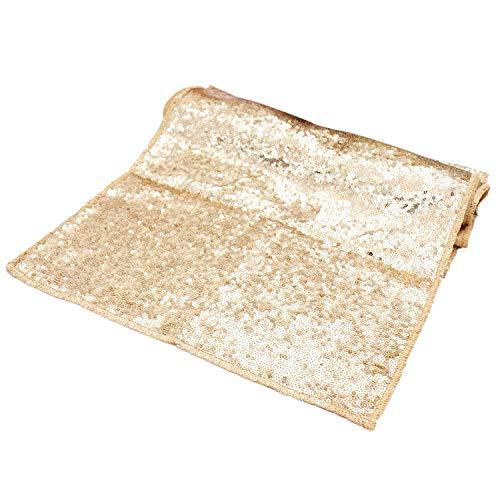 Bit. Fly Sparkly Champagner Gold Pailletten Tischläufer für Hochzeit/Events Dekoration 30* 275cm (30,5x 274,3cm) (Champagner)