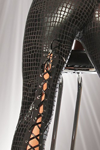 Wetlook-Leggings-kroko/schwarz - 4