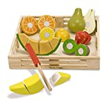 Melissa & Doug 14021 Cutting Fruit Set - Wooden Play Food Kitchen Accessory