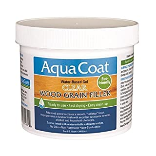 Aqua Coat Clear Wood Grain Filler Qt by AquaCoat