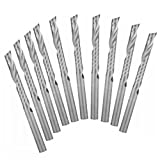EU_HOZLY 3.175 X 22mm Einzelflöte Spirale Hartmetall CNC Fräser Bits Fräser Cutter Pack von 10