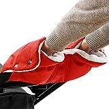 Kinderwagen Handschuhe, Baby Kinderwagen Handwärmer Buggy Handschuhe Handmuff Universalgröße - Rot
