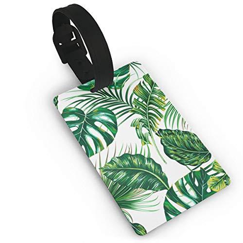 Tropische Palmblätter Monstera Jungle Leaf The Arts Tropic Nature Flexible Reisegepäckanhänger für Gepäck Taschen/Koffer - Namensschilder für die Reise