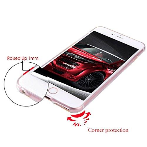 Case Cover Per iphone 6/6S Plus 5.5 pollici Trasparente TPU Gel Silicone Bumper Protettivo Skin Custodia Ultra-sottile Flessibile morbido Protettiva Shell(piuma 2) bolla