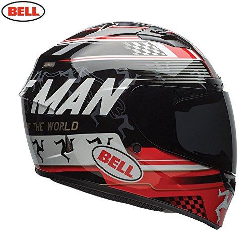 Bell Casco Qualifier DLX Isle of Man Black/Red, tamaño M