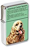 American Cocker Spaniel Hund Klappfeuerzeug in einer Geschenkdose