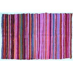 Guru Shop - Moqueta, diseño de patchwork (100 x 160 cm), color rosa