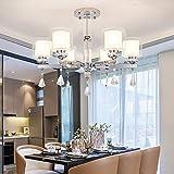 Moderne Kronleuchter Beleuchtung-Chrom-LED Kronleuchter Beleuchtung Kristall Wohnzimmer Led Decke Kronleuchter für Wohnzimmerbeleuchtung, 6 Arm Kronleuchter, 220-240V, warmes Weiß