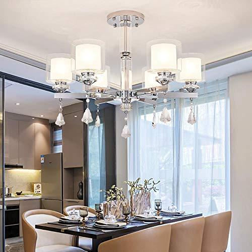 6 Arm Kronleuchter (Moderne Kronleuchter Beleuchtung-Chrom-LED Kronleuchter Beleuchtung Kristall Wohnzimmer Led Decke Kronleuchter für Wohnzimmerbeleuchtung, 6 Arm Kronleuchter, 220-240V, warmes Weiß)