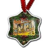 Monsety Decorazioni Natalizie di Los Angeles, Ornamento Vintage da Appendere all'albero di Natale