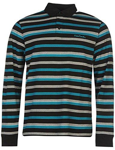 mens-stripped-long-sleeve-polo-shirt-x-large-black1