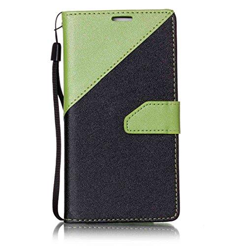 Nancen New Housse coque Samsung Galaxy S6 / SM-G920 (5,1 pouces) Bien Haute Qualité PU Cuir Flip Étui Coque de Protection Wallet / Portefeuille Case Cover Housse - Avec Carte de Crédit Fente, Fermeture Magnétique, pour protéger votre téléphone,